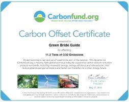 carbon offset cert.